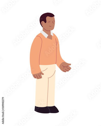 Isolated african man vector design