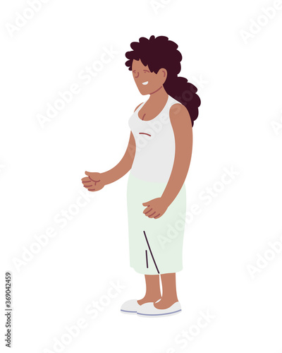 Isolated african woman vector design