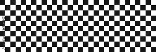 Photo Race flag. Checkered background. Vector seamless pattern.
