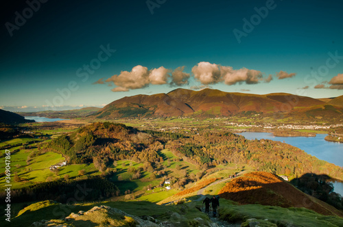derwent water from catbells Fotobehang