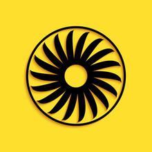 Black Ventilator Symbol Icon I...