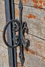 Old Wrought Iron Door Handle. ...