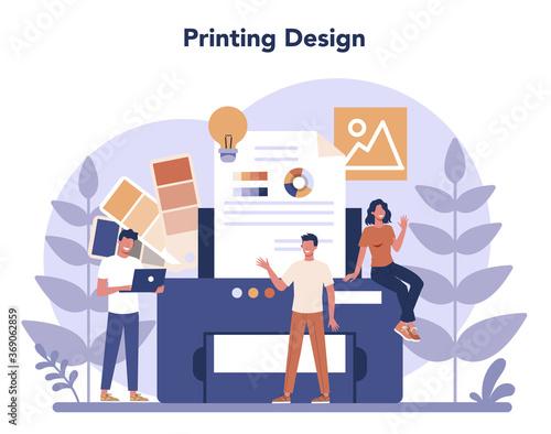 Obraz Design concept. Graphic, web, printing design. Digital drawing - fototapety do salonu
