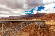 Auto Arch Bridge Over The Colorado River, Navajo Bridge, AZ, USA