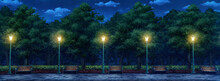 Park Anime Background - Night ...