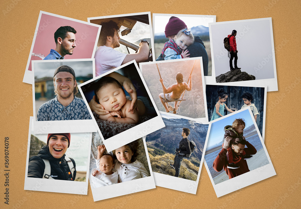 Fototapeta Instant Photos Collage Mockup
