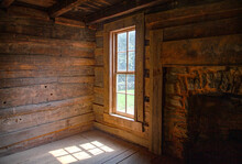Interior Log Cabin Window Look...