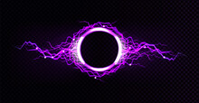 Electric Lightning Circle With...