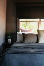 Dark Styled Bedroom Interior O...