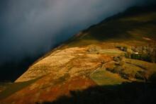 Steep Round Hill In Autumn