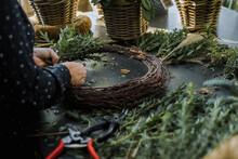 Woman Florist Assembling A Gar...