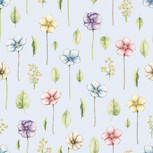 Seamless Pattern With Vintage ...