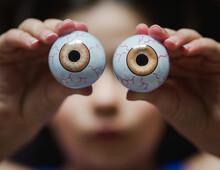 Girl And Eyeballs