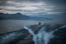 Boat Crossing Lake Baikal Afte...