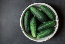 Cucumbers In A Bowl