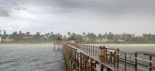 Naples Pier In Bad Weather