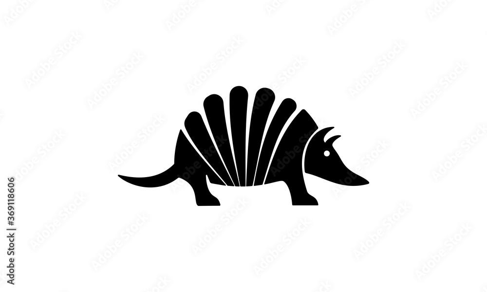 Fototapeta armadillo, animal, black, armadillo design