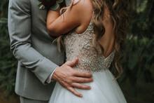 Wedding Couple Embraced