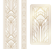 Gold Art Deco Panel And Border...