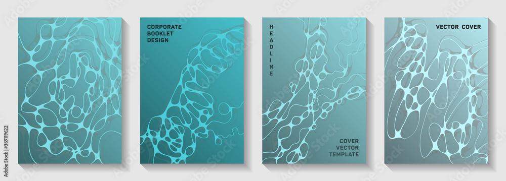 Fototapeta Artificial intelligence concept abstract vector