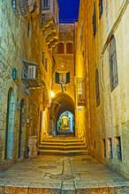 The Narrow Passage In Jewish Quarter, Jerusalem, Israel