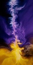 Glowing Liquid Color Waves Background