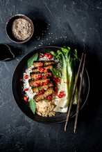 Tempeh With Rice And Pak Choi ...