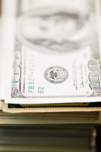 Close Up Of One Hundred Dollar...