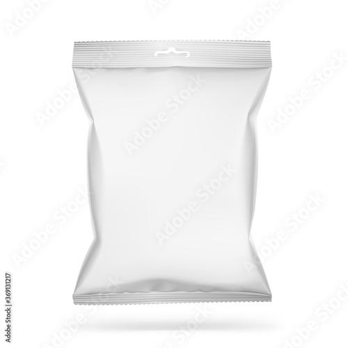 Carta da parati Food snack pillow bag on white background