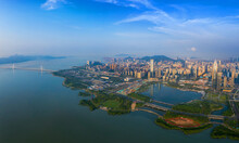 Panoramic View Of Shenzhen Bay