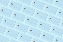 Blue Credit Cards Pattern