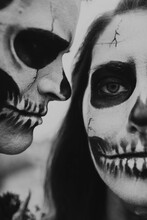 A Skeleton Themed Engagement Shoot