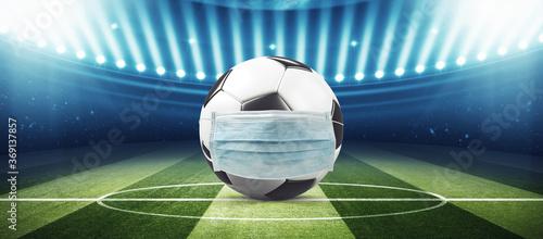 Obraz Soccer events through the corona virus time - fototapety do salonu