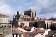 Salamanca, Castilla y León, Spain; Stroll through the old town. Panorama view.