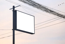 Empty Signs And Electrical Wir...