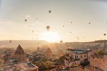 Hot Air Balloon Rides In Cappadocia At Sunrise