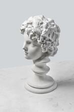Boy's Profile Of Gypsum Statue.