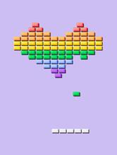 Rainbow Gum Heart