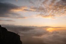 Beautiful Sunrise Through Clou...