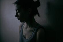 Profile Portrait Of A Sad Girl...