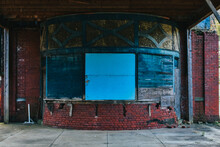 An Abandoned Ticket Booth At A...