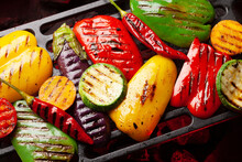 Grilled Vegetables With Spices...