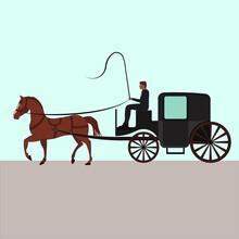 Four Wheeled Carriage Or Coach...