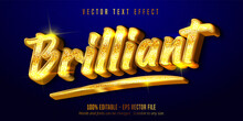 Brilliant Text, Shiny Gold Style Editable Text Effect