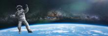 Astronaut During A Spacewalk I...