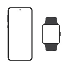 Smartphone And Smart Watch Moc...