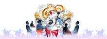 Illustration Of Lord Ganpati On Ganesh Chaturthi Background