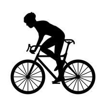 Athletic Man Bike Ride Sport S...