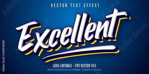 Fotografie, Obraz Excellent text, sport style editable text effect