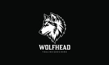 Wolf Head Vector Logo Template...